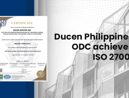 Ducen Philippines ODC achieves ISO 27001 Certification for ISMS